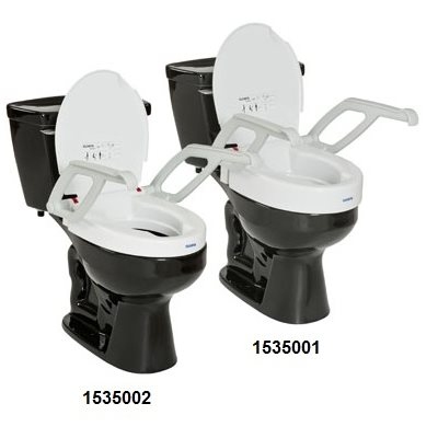 "Toilet Seat: 2"" or 4"" Raise (with armrests)"