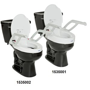 """Toilet Seat: 2"""" or 4"""" Raise (with armrests)"""