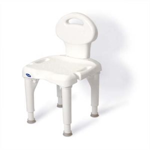 Bath and Shower Chair: With backrest