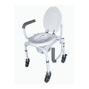 Chaise d'aisance: Abaissement des bras (avec roues)