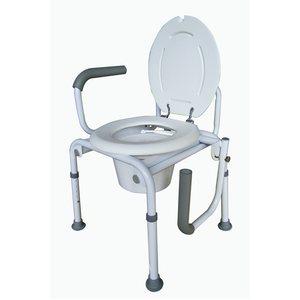 Chaise d'aisance: Abaissement des bras (sans roues)